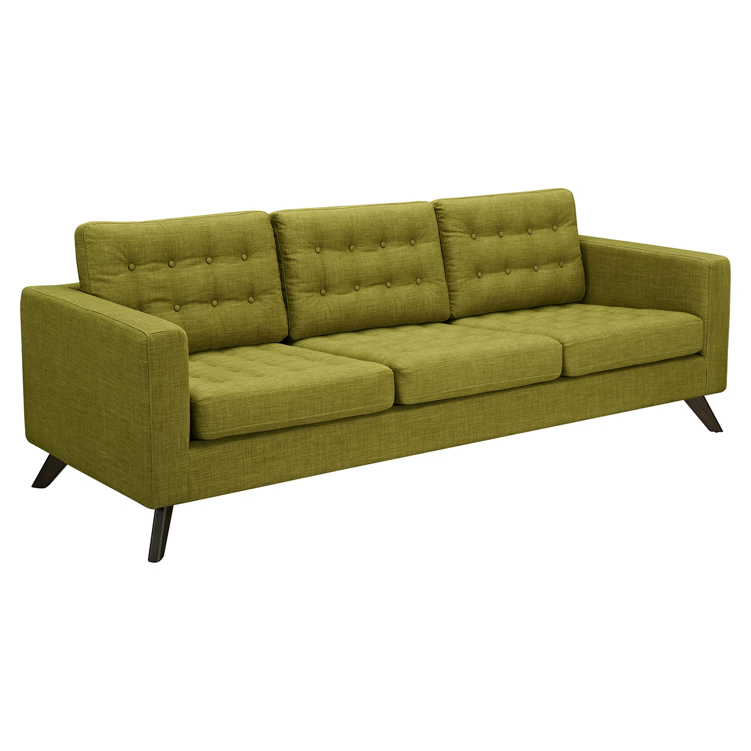Mina Sofa - Avocado Green, Tufted - NYEK-224447