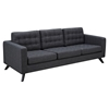 Mina Sofa - Charcoal Gray, Tufted - NYEK-224455