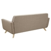 Dania Tufted Upholstery Sofa - Light Sand - NYEK-224461