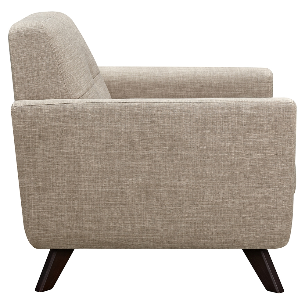 Dania Tufted Upholstery Armchair Light Sand Dcg Stores