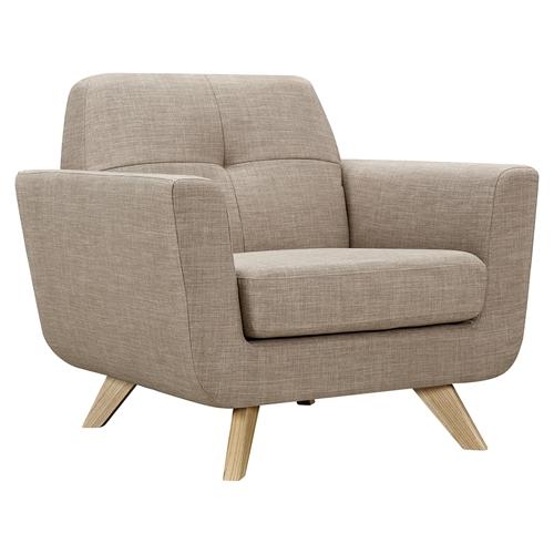 Dania Tufted Upholstery Armchair Light Sand Dcg Stores