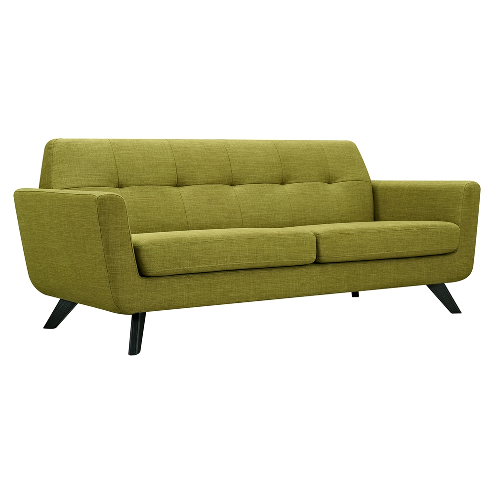 Dania Tufted Upholstery Sofa Avocado Green Dcg Stores