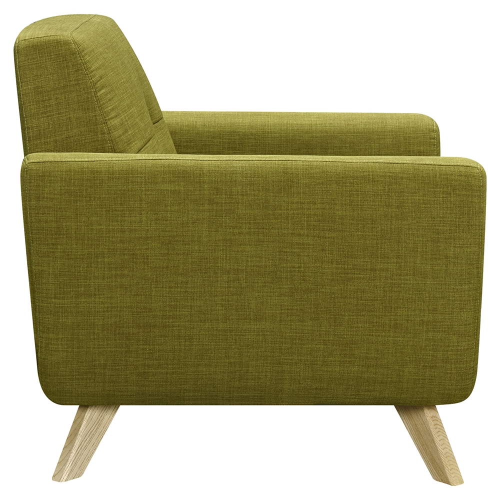 dania tufted upholstery armchair avocado green dcg stores. Black Bedroom Furniture Sets. Home Design Ideas