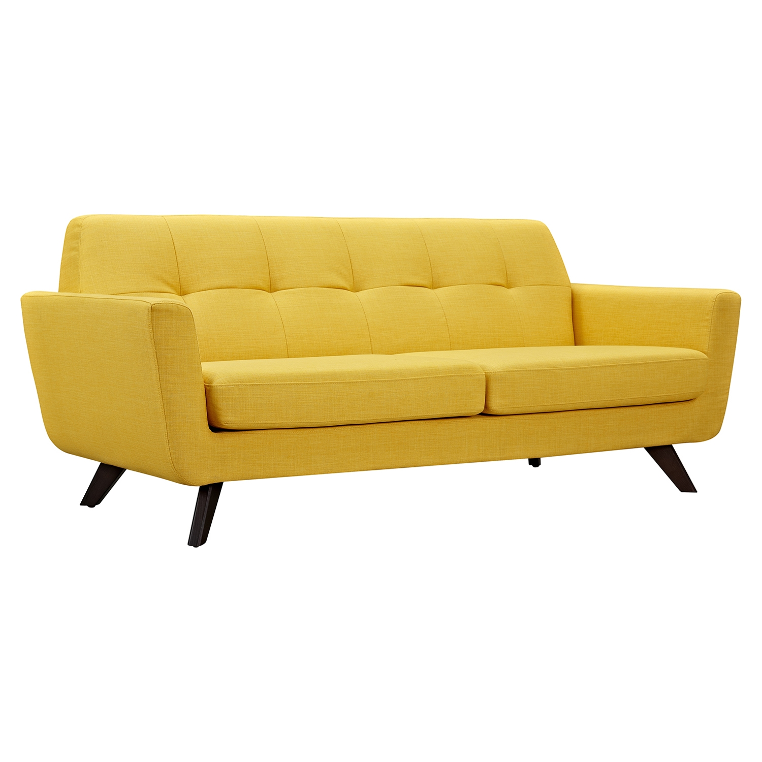 Dania Tufted Upholstery Sofa Papaya Yellow Dcg Stores