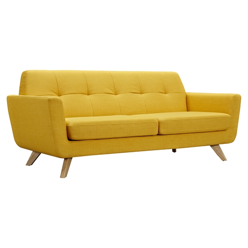 Dania Tufted Upholstery Sofa - Papaya Yellow  DCG Stores
