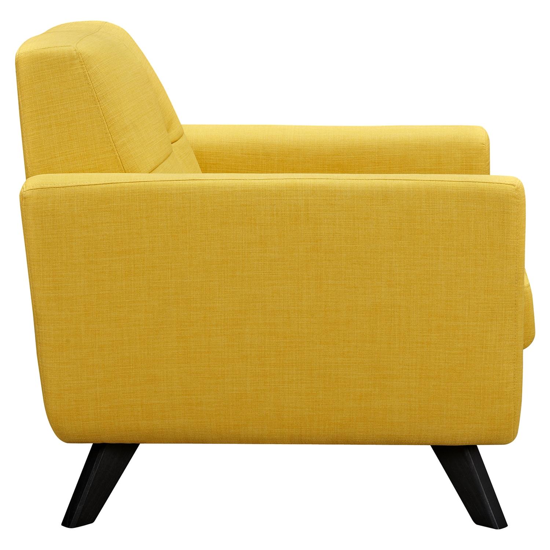 Dania Tufted Upholstery Armchair - Papaya Yellow : DCG Stores