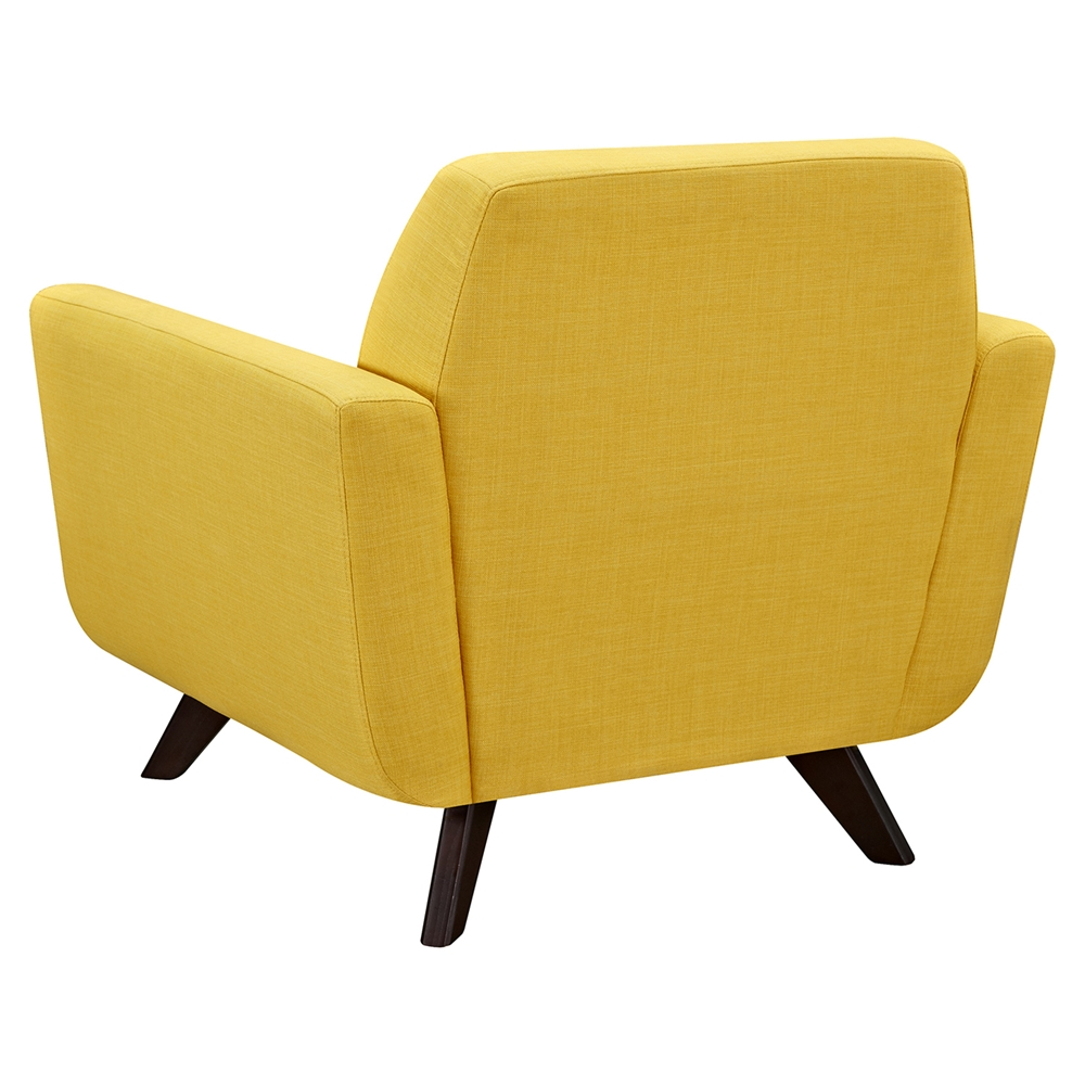 Dania Tufted Upholstery Armchair Papaya Yellow Dcg Stores