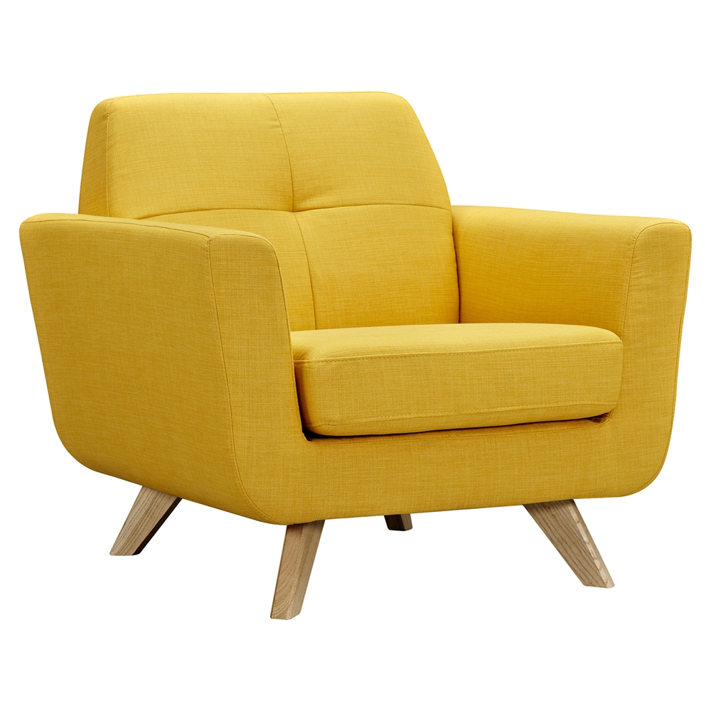 Dania Tufted Upholstery Armchair Papaya Yellow Dcg Stores