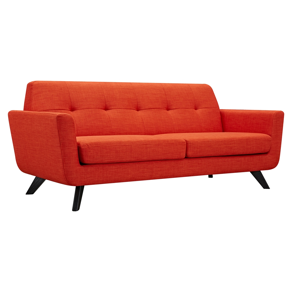 Dania Tufted Upholstery Sofa Retro Orange Dcg Stores
