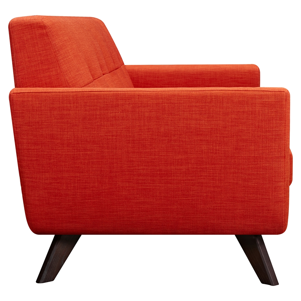 Dania Tufted Upholstery Sofa Retro Orange Dcg Stores