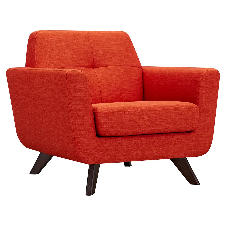 dania tufted upholstery armchair   retro orange   nyek 224468     dania tufted upholstery armchair   retro orange   dcg stores  rh   dcgstores