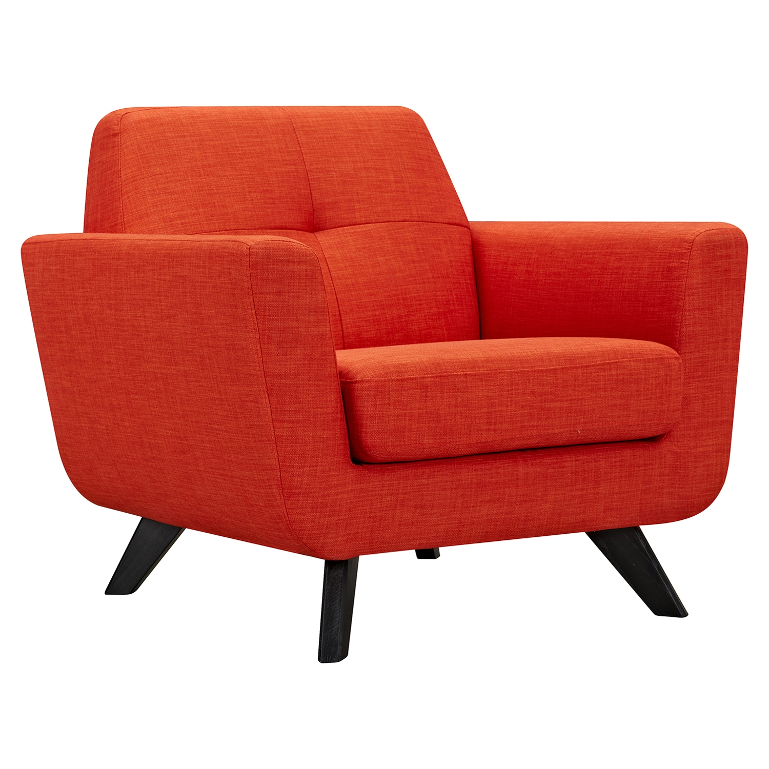 Dania Tufted Upholstery Armchair Retro Orange Dcg Stores