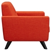 ... Dania Tufted Upholstery Armchair - Retro Orange - NYEK-224468 ...