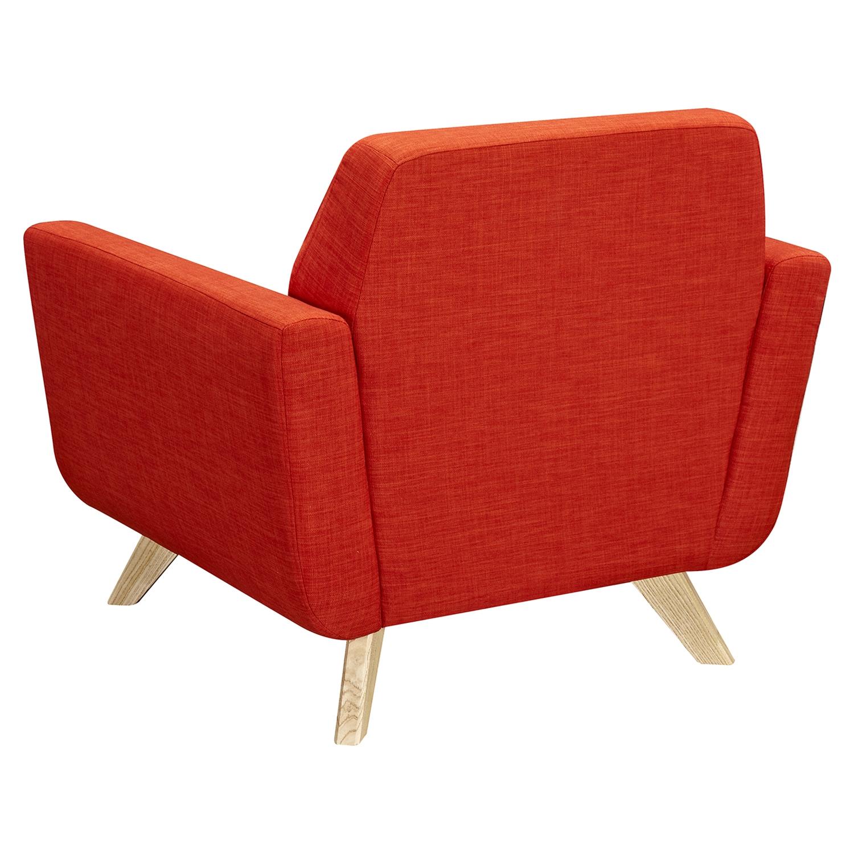 Dania Tufted Upholstery Armchair Retro Orange Dcg Stores