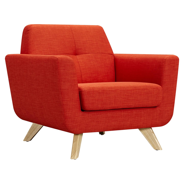 Dania Tufted Upholstery Armchair   Retro Orange   NYEK 224468 ...
