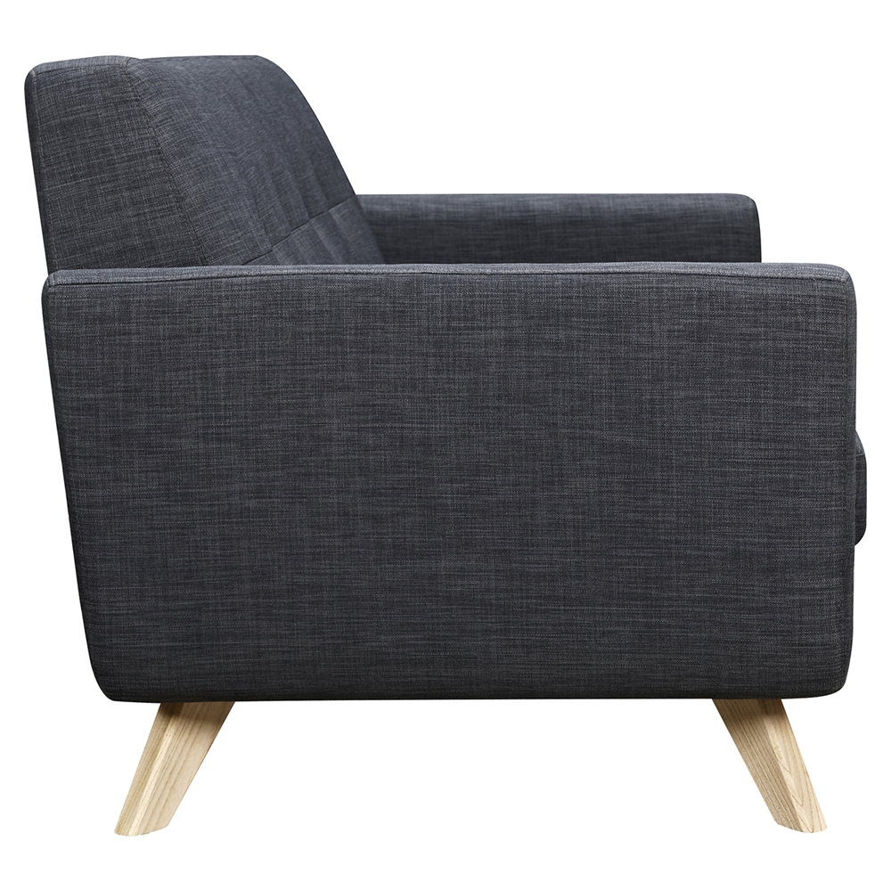 Dania Tufted Upholstery Sofa Charcoal Gray Dcg Stores