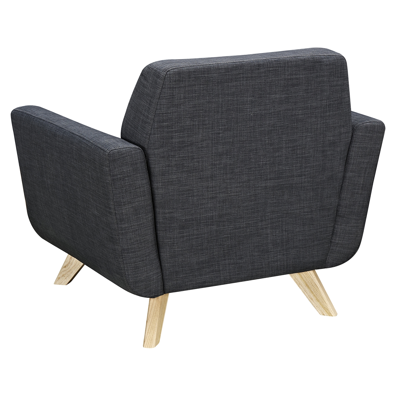 Dania Tufted Upholstery Armchair Charcoal Gray Dcg Stores