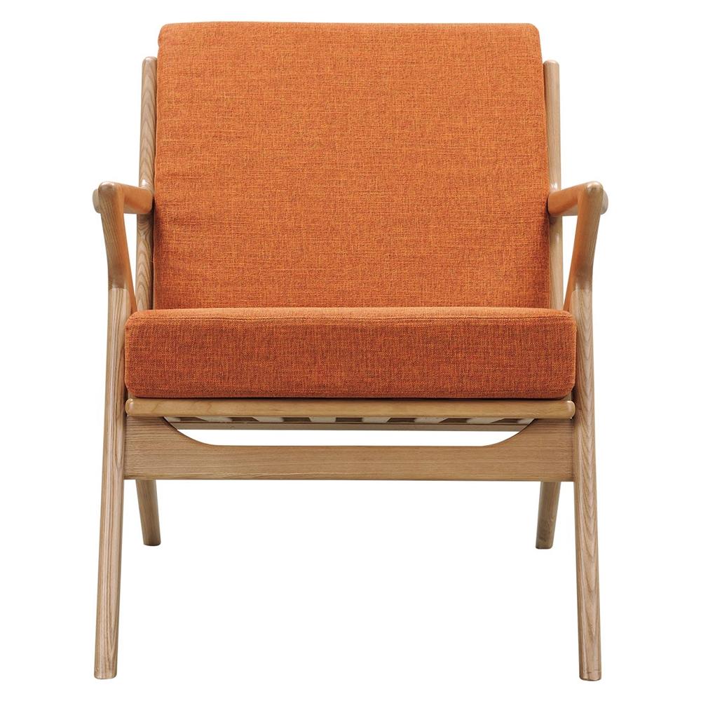 Zain Armchair - Burnt Orange