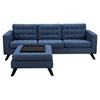 Mina Sofa Set - Stone Blue, Tufted - NYEK-224485