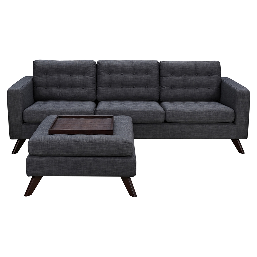 Mina sofa set charcoal gray tufted dcg stores for Tufted couch set