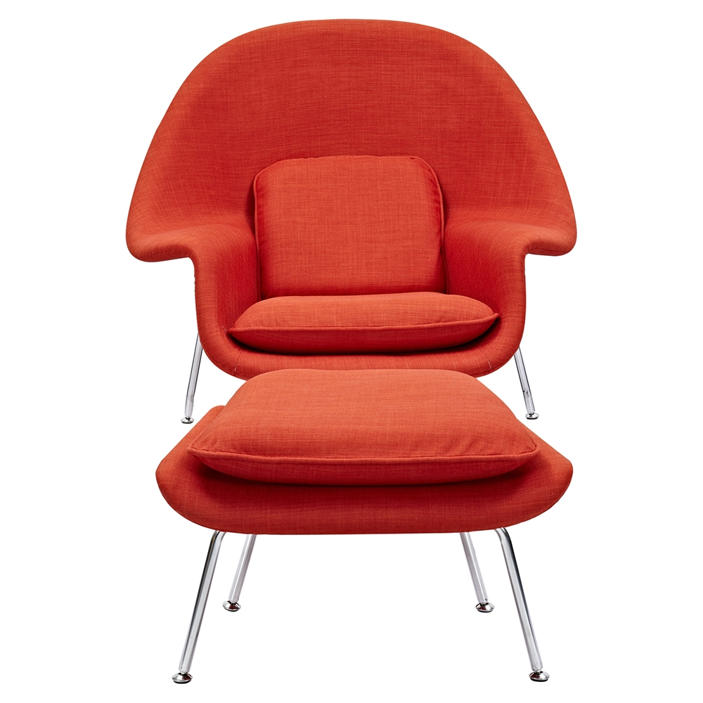 Saro upholstered chair lava red dcg stores for Red and white upholstered chairs