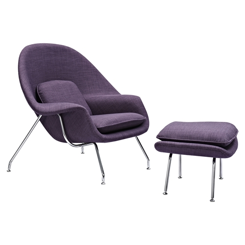 Saro Upholstered Chair Plum Purple DCG Stores