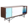 Soren Sideboard - Walnut and Blue - NYEK-445525M