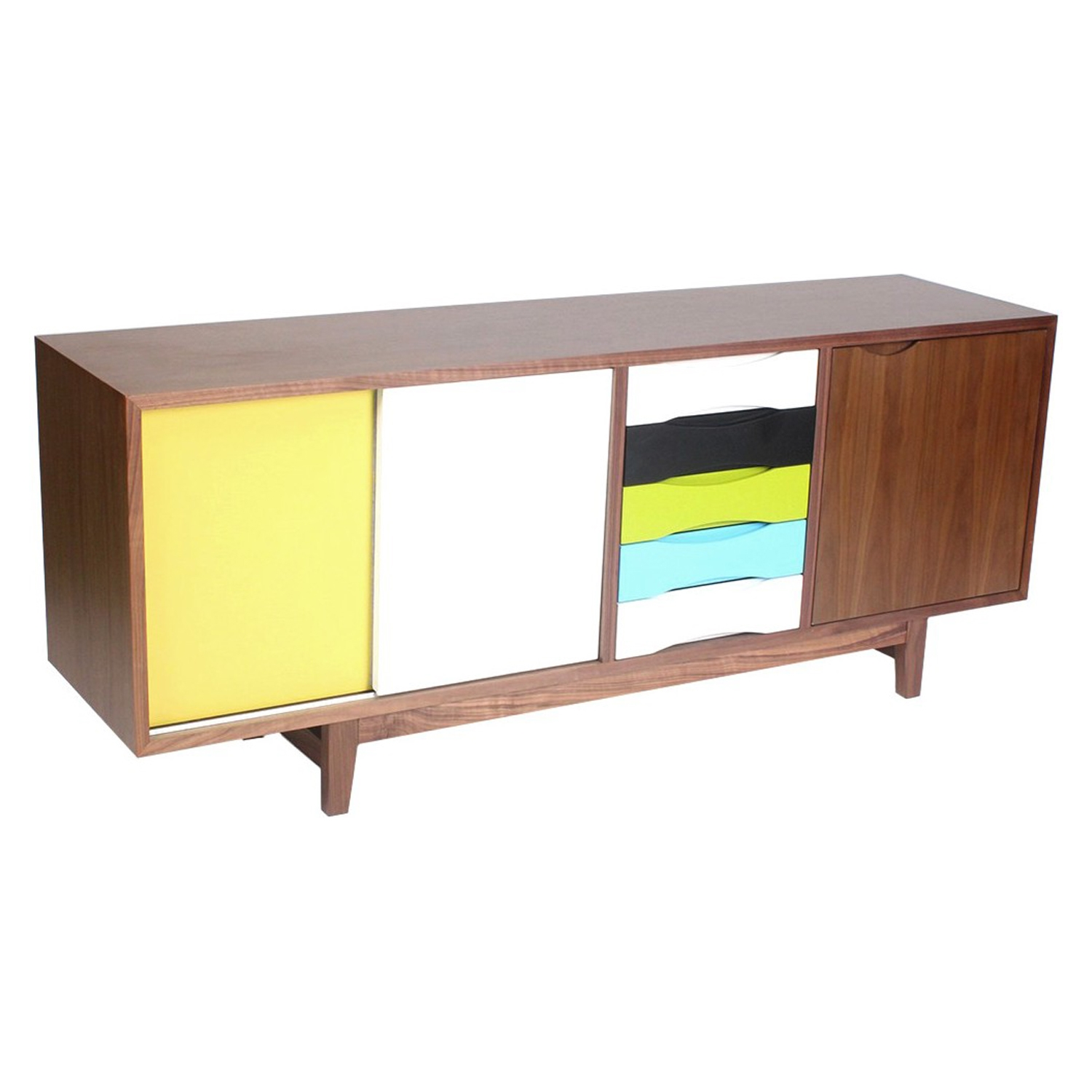 Kelda Sideboard - Walnut and Yellow - NYEK-445528M