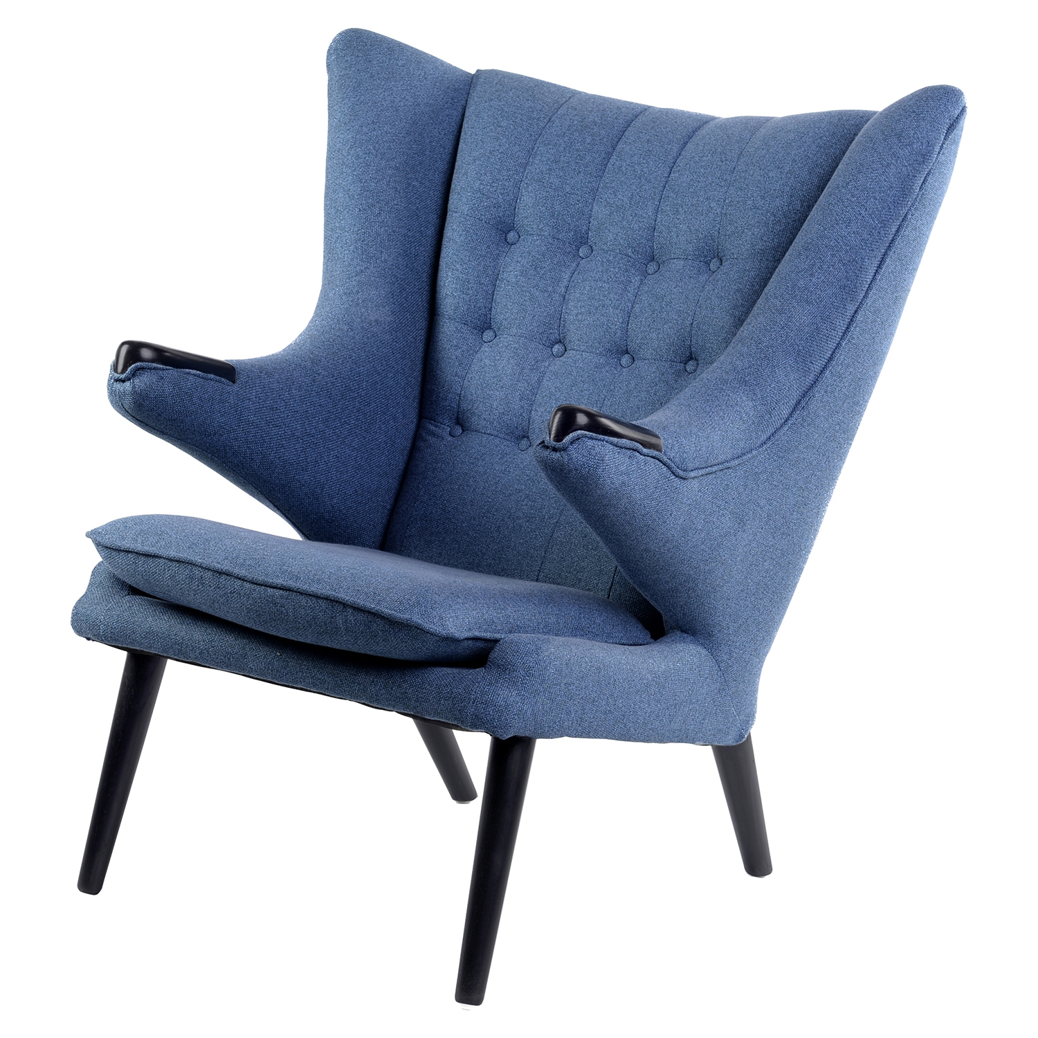 Bjorn Button Tufted Upholstery Chair - Dodger Blue - NYEK-445545