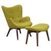 Aiden Button Tufted Upholstery Chair - Avocado Green - NYEK-445560