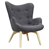 Aiden Button Tufted Upholstery Chair - Charcoal Gray - NYEK-445564