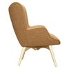 Aiden Button Tufted Upholstery Chair - Camel Brown - NYEK-445565