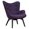 Aiden Button Tufted Upholstery Chair - Plum Purple - NYEK-445566