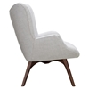 Aiden Button Tufted Upholstery Chair - Glacier White - NYEK-445567