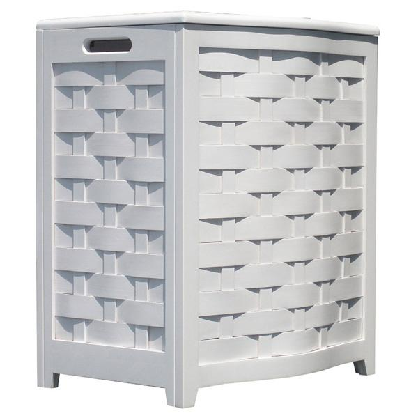 Avon White Hamper - Bowed Front