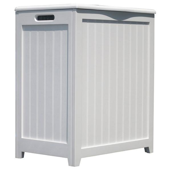 Hollister White Laundry Basket Hamper