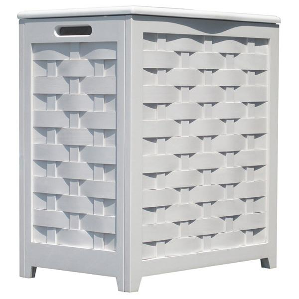 Raleigh White Laundry Room Hamper