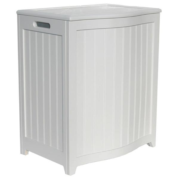 Timberlake White Laundry Hamper - Bowed Front