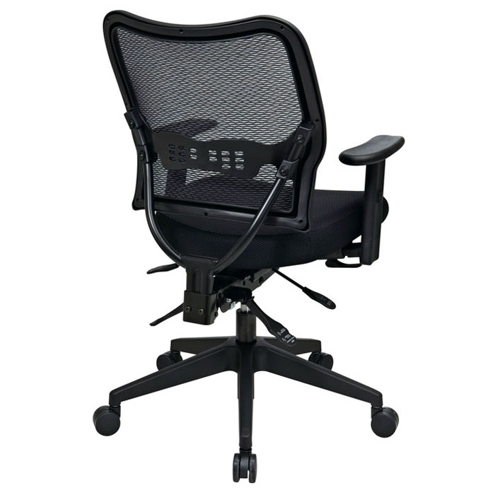 Space Seating 13 Series Deluxe Office Chair with Adjustable Arms - OSP-13-37N9WA