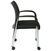 Pro-Line II ProGrid Black Seat Guest Chair with Casters (Set of 2) - OSP-17740A2