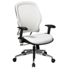 Space Seating 33 Series Deluxe White Vinyl Manager's Chair - OSP-33-Y22P91A8