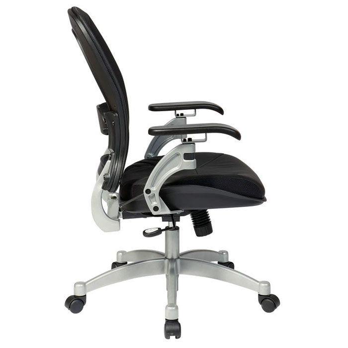Space Seating 36 Series Professional Light AirGrid Office Chair with Leather Seat - OSP-3680