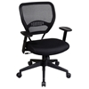 Space Seating 55 Series Professional Black Manager's Chair - OSP-5500