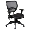 Space Seating 55 Series Black AirGrid Seat and Back Task Chair - OSP-5560