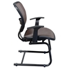 Space Seating 55 Series Deluxe Latte AirGrid Seat and Back Visitor's Chair - OSP-5585