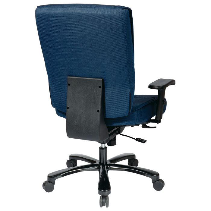 Pro-Line II 7605 - Big and Tall Deluxe Blue Executive Chair with Adjustable Arms - OSP-7605
