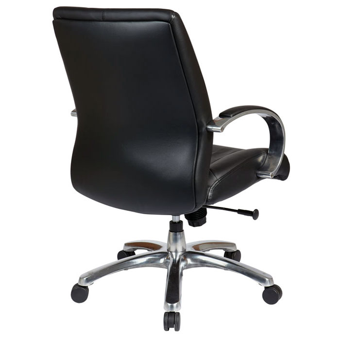 Pro-Line II 8001 - Deluxe Mid Back Executive Chair in Black Leather - OSP-8001
