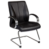 Pro-Line II 8005 - Black Leather Visitor's Chair with Sled Base - OSP-8005