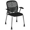 Space Seating 801 Series Deluxe SpaceFlex Platinum Frame Visitor's Chair with Armrests (Set of 2) - OSP-801-X6AG