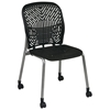 Space Seating 801 Series Deluxe SpaceFlex Platinum Frame Visitor's Chair with Casters (Set of 2) - OSP-801-X6C